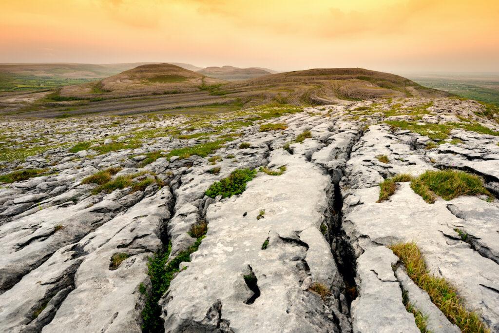 Limestone in Burren National Park.