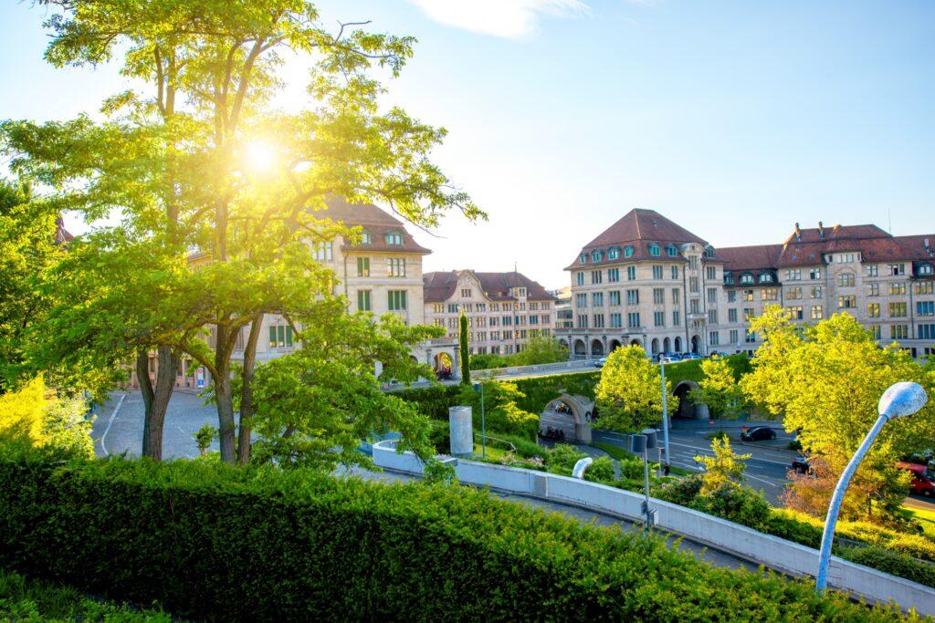 Lindenhof park in Zurich's Old Town.