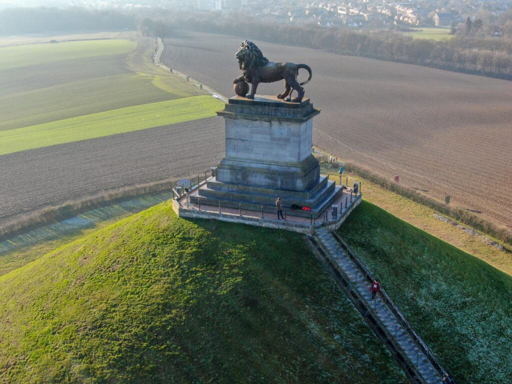 Lion's Mound at the site of the Battle of Waterloo.