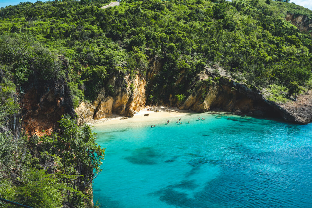 Little Bay on the Caribbean island of Anguilla.