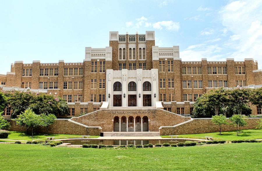 Little Rock Central High School in Arkansas.