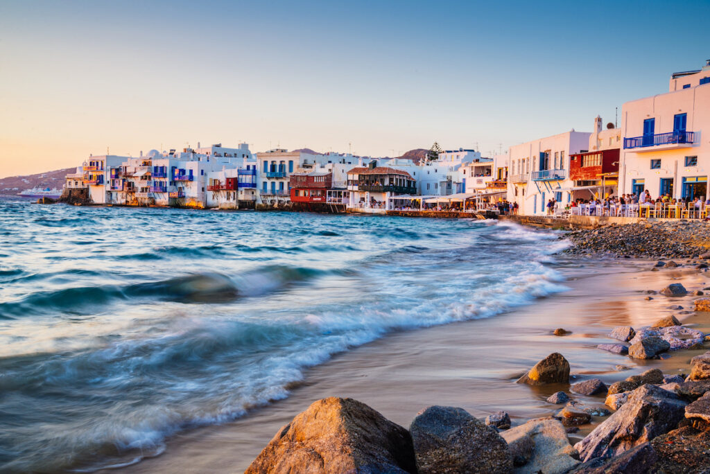 Little Venice, Mykonos, Greece.