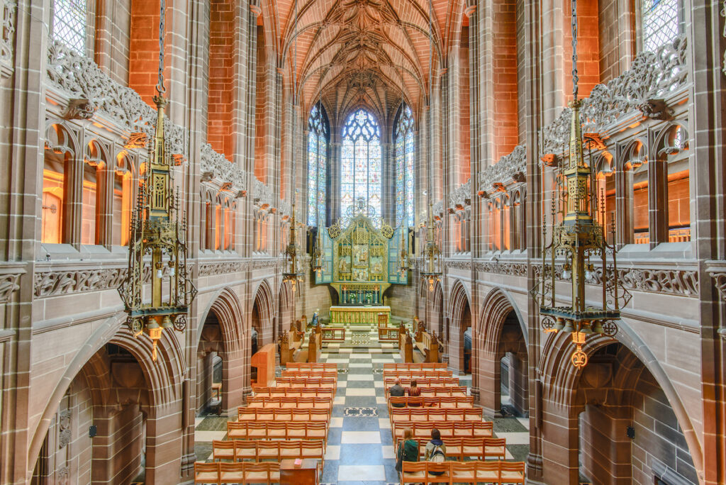 Liverpool Cathedral, the largest cathedral in the UK.