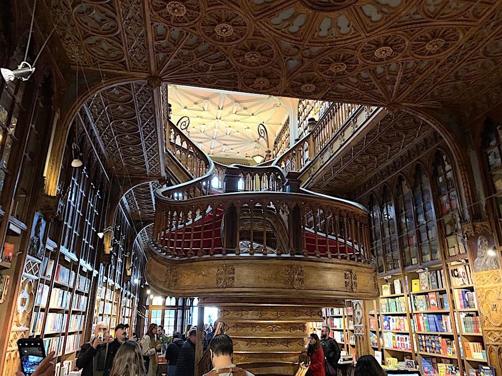Livraria Lello bookstore in Porto, Portugal.