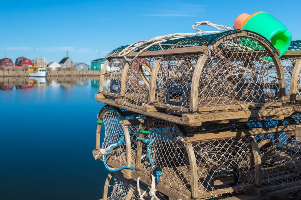 Lobster traps on Prince Edward Island.