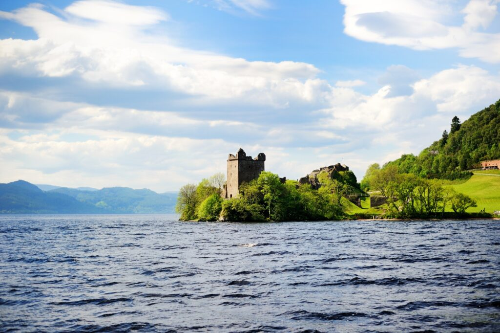 Loch Ness in the Scottish Highlands.