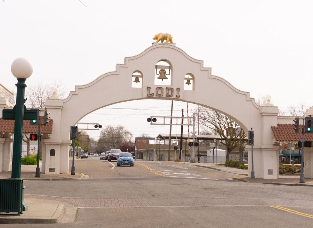 Lodi Arch, in Lodi, California.