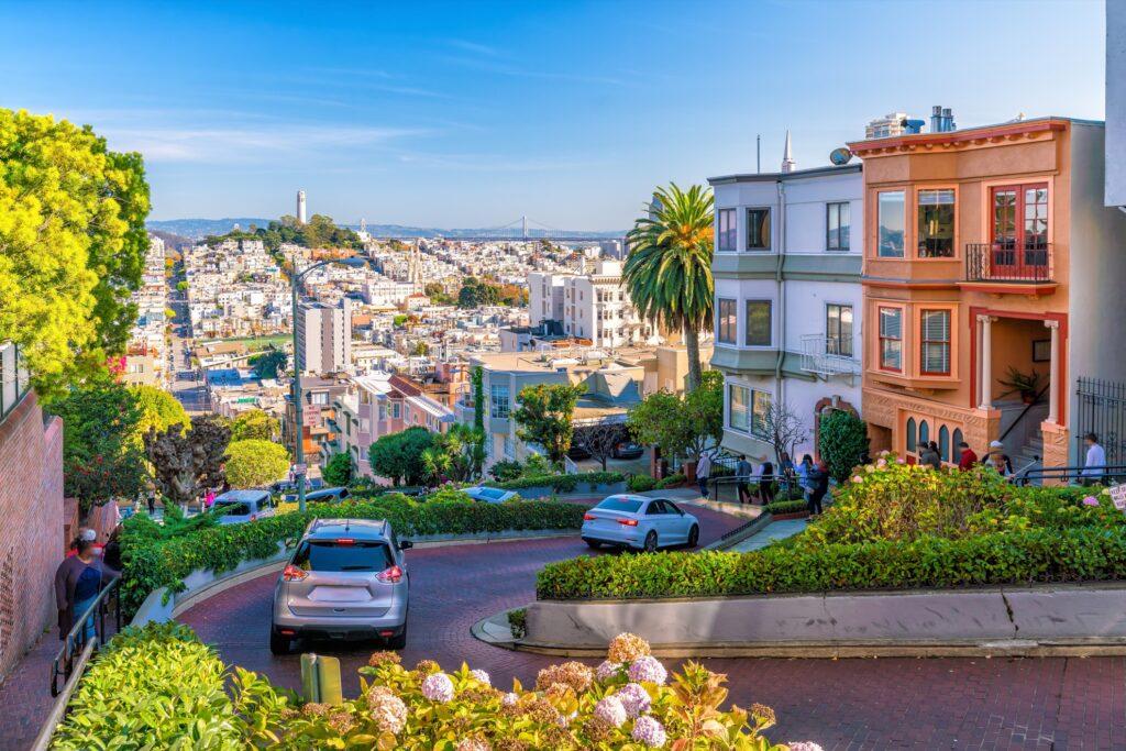 Lombard Street in San Francisco.