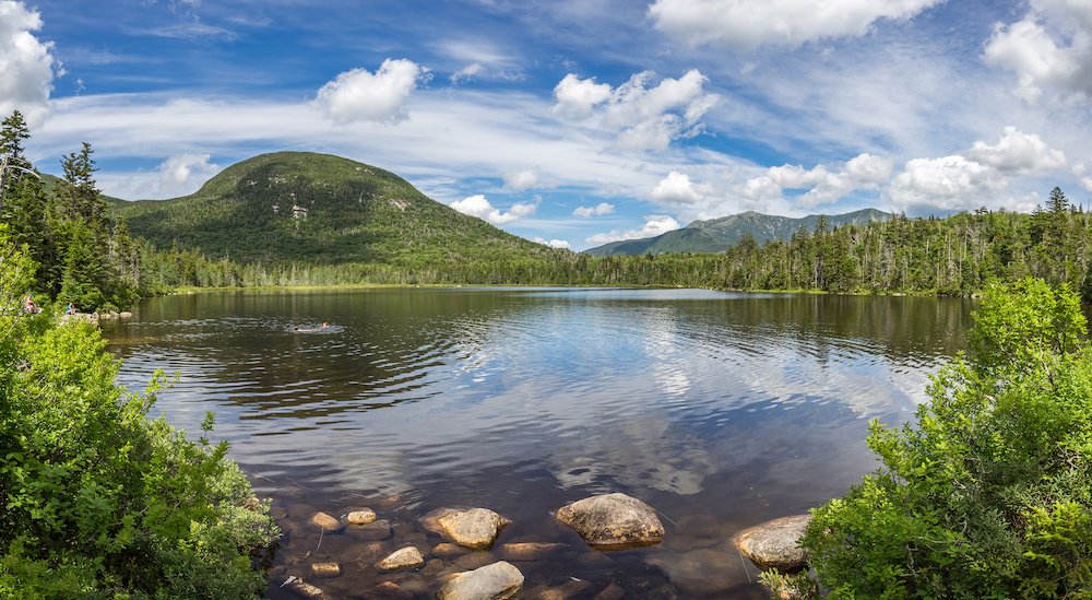 Lonesome Lake in Franconia Notch State Park.