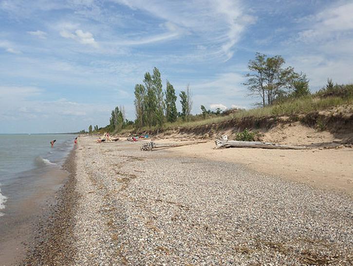 Long beach at Pinery Provincial Park