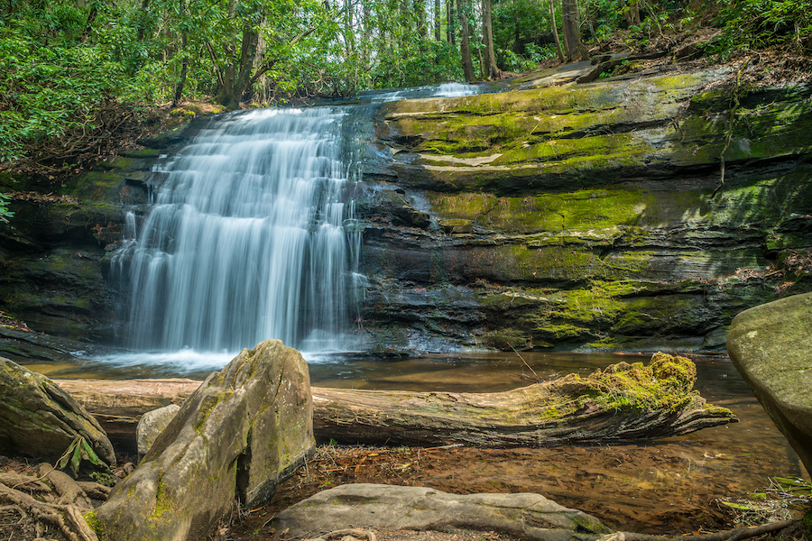 Long Creek Falls along the Appalachian Trail in Georgia.