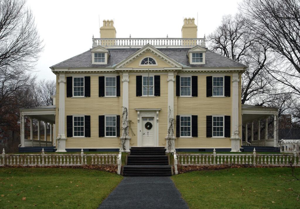 Longfellow House in Cambridge, Massachusetts.