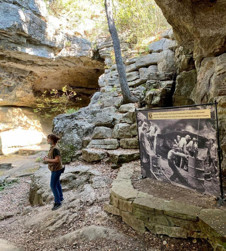 Longhorn Caverns State Park near Marble Falls.