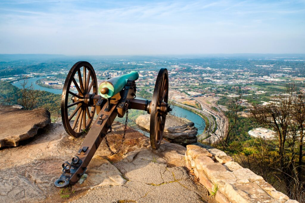 Lookout Mountain in Chattanooga, Tennessee.