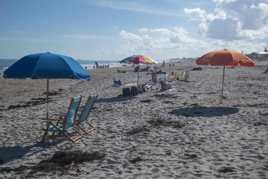 Lori Wilson Park beach views in Cocoa Beach, Florida.