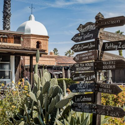 Los Rios Street in quaint San Juan Capistrano, California.