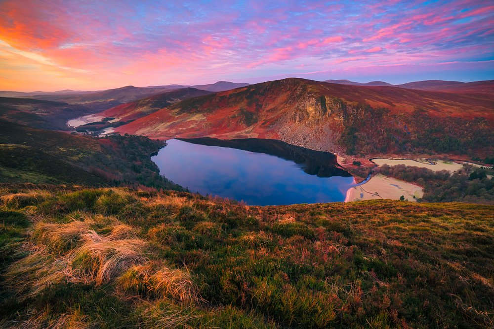 Lough Tay in the Wicklow Mountains.