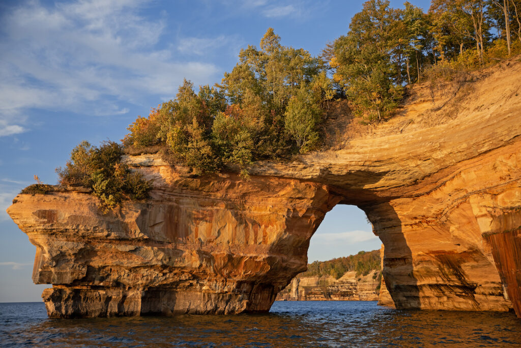 Lover's Leap arch on Pictured Rocks National Lakeshore.