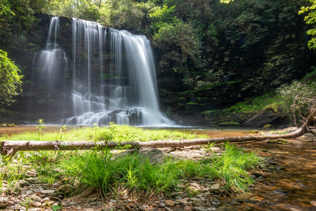 Lower Bearwallow Falls in North Carolina's Gorges State Park.