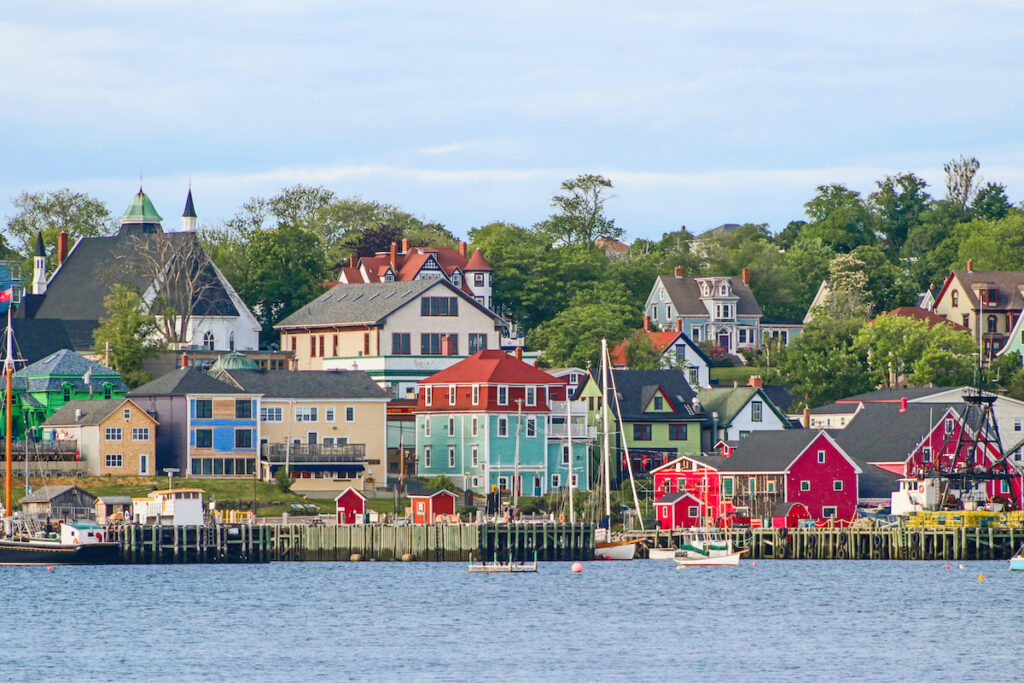Lunenburg, Nova Scotia, from the water.