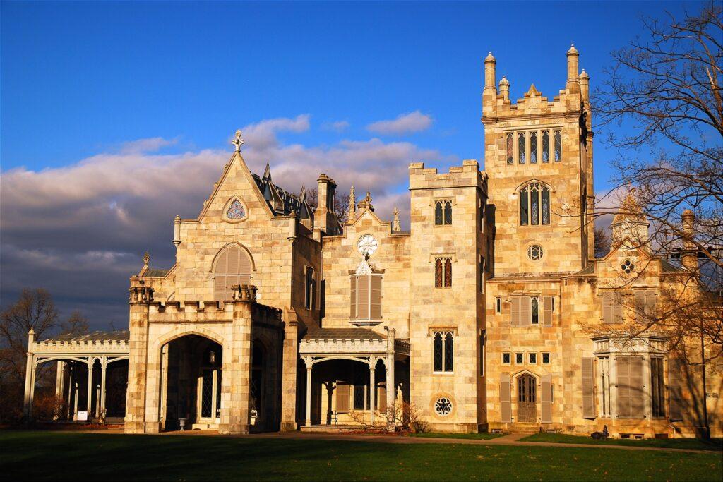 Lyndhurst Castle in Tarrytown, New York.