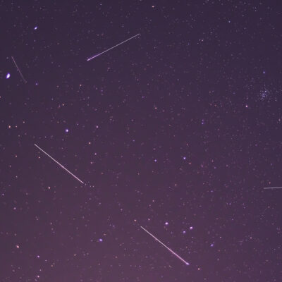 Lyrid meteor shower and satellites.