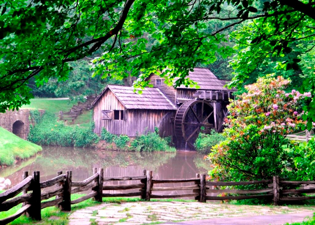 Mabry Mill along the Blue Ridge Parkway.