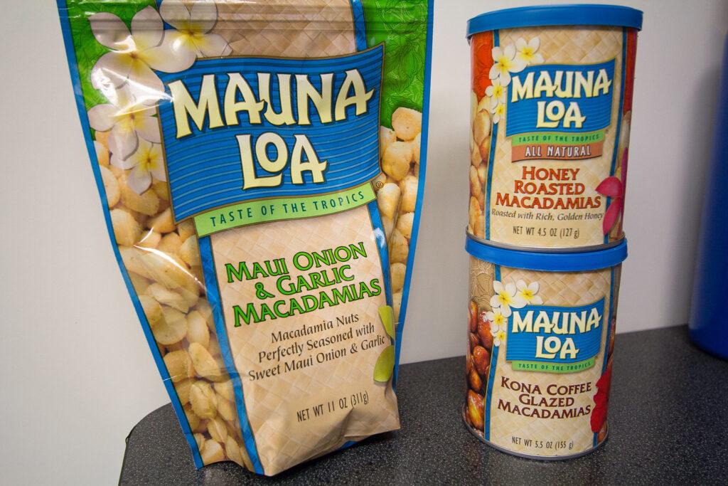 Macadamia nuts from Hawaii.
