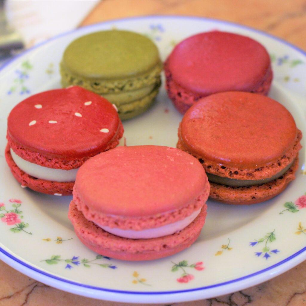 Macarons in Cafe Carette in Paris.