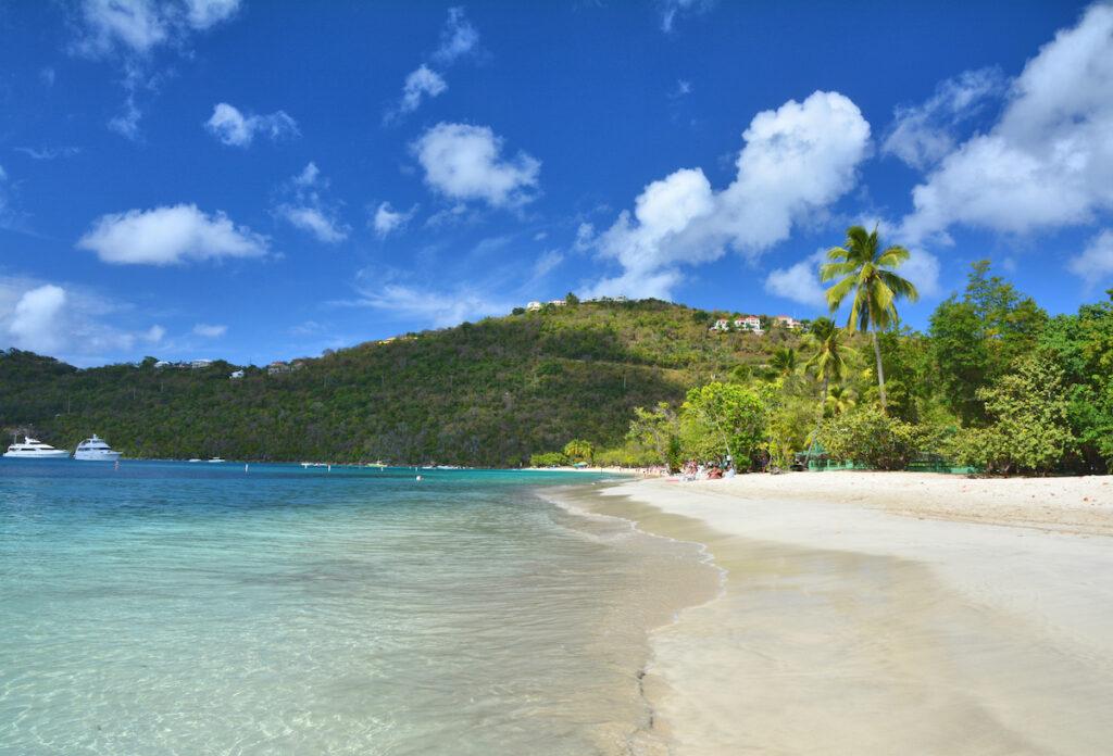 Magens Bay Beach on St. Thomas island.
