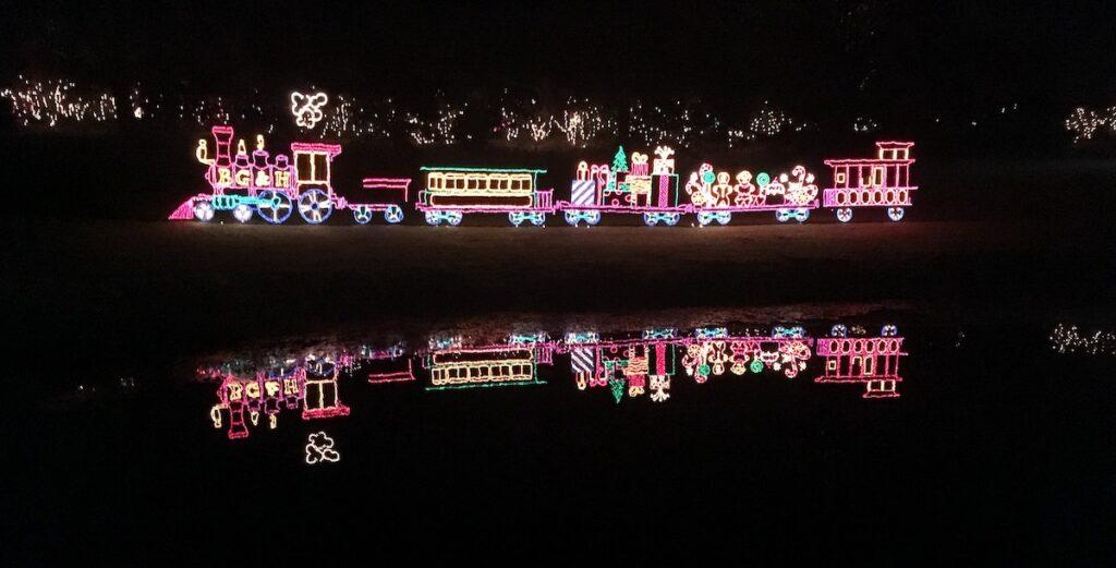 Magic Christmas In Lights at Bellingrath Gardens.