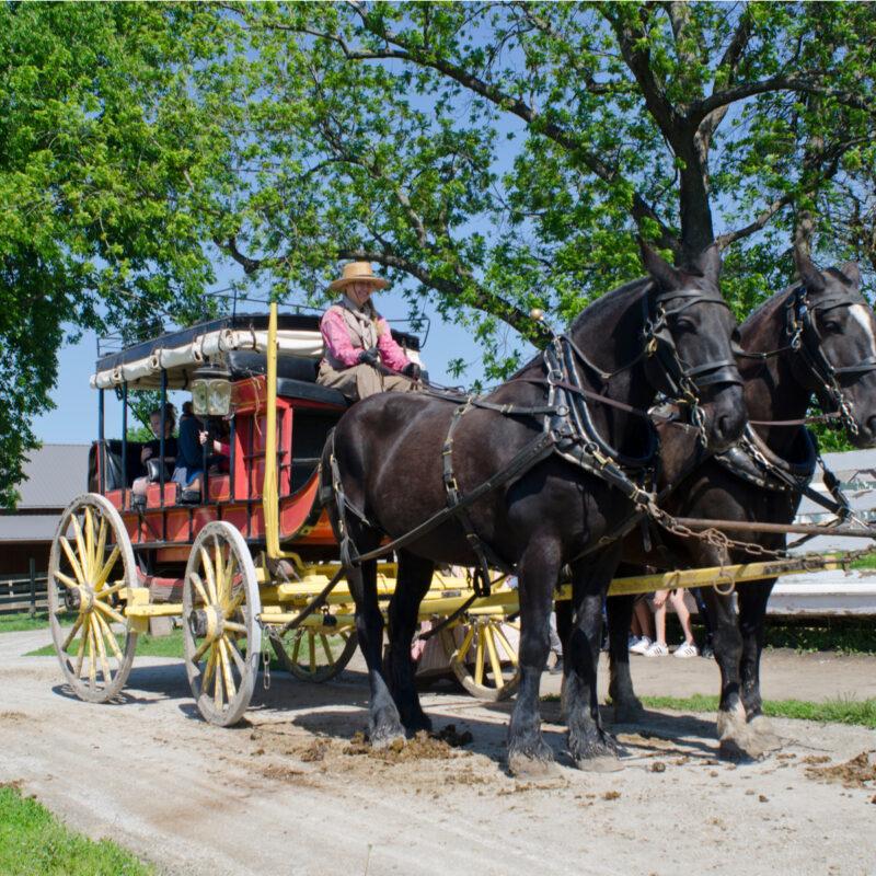 Mahaffie Stagecoach and Farm Historic Site in Olathe, Kansas.