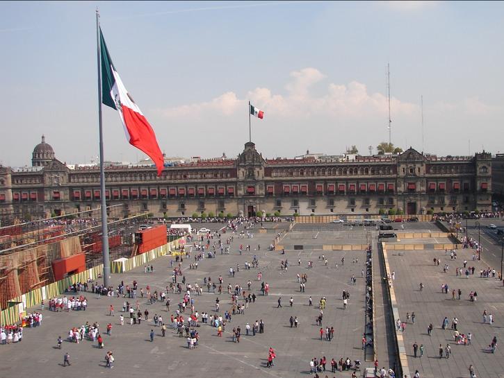 Main square of Mexico City.