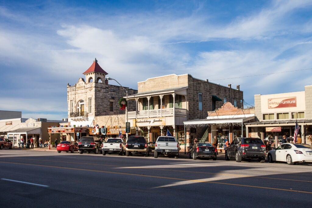 Main Street in Fredericksburg, Texas.
