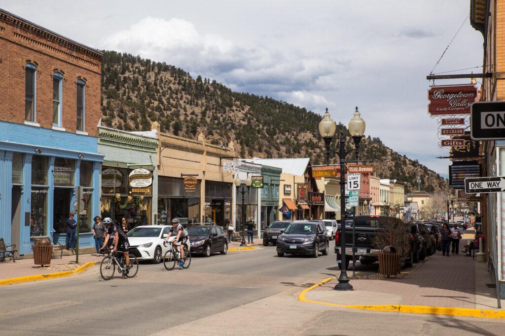 Main street in Idaho Springs, Colorado.
