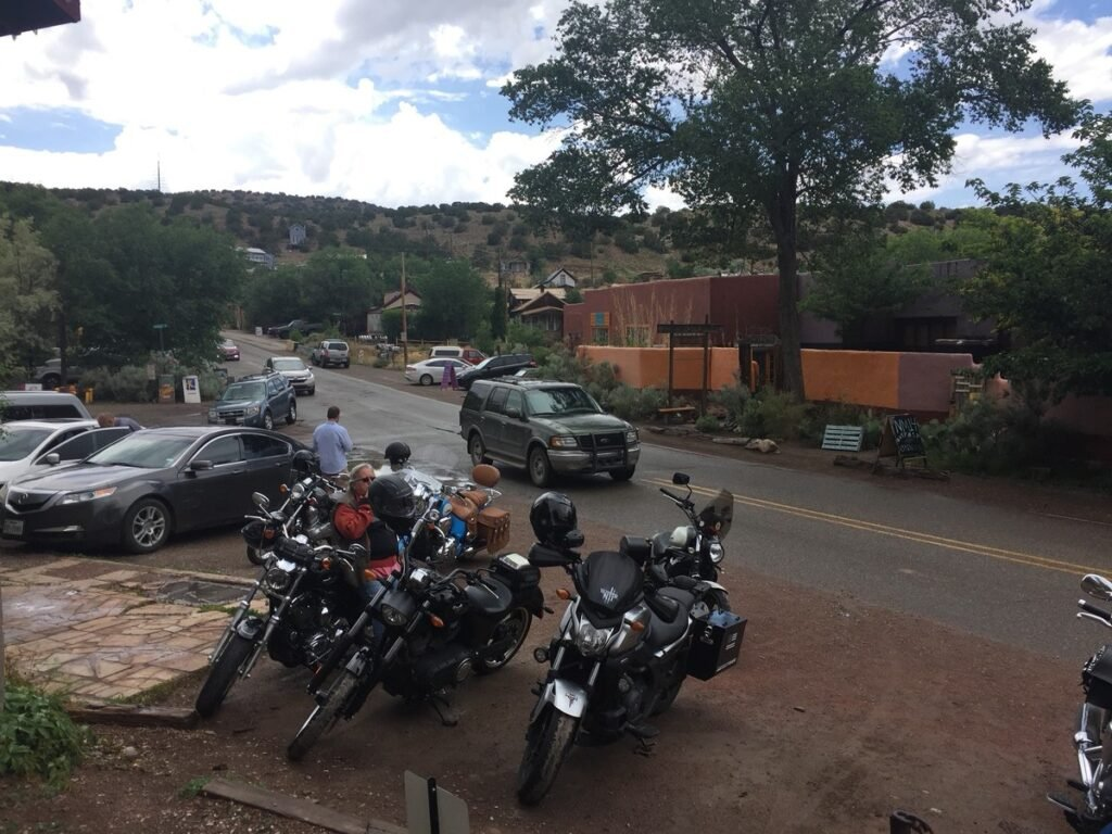 Main street in Madrid, New Mexico.