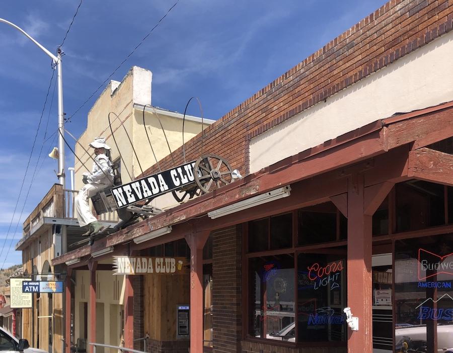 Main street in Pioche, Nevada.
