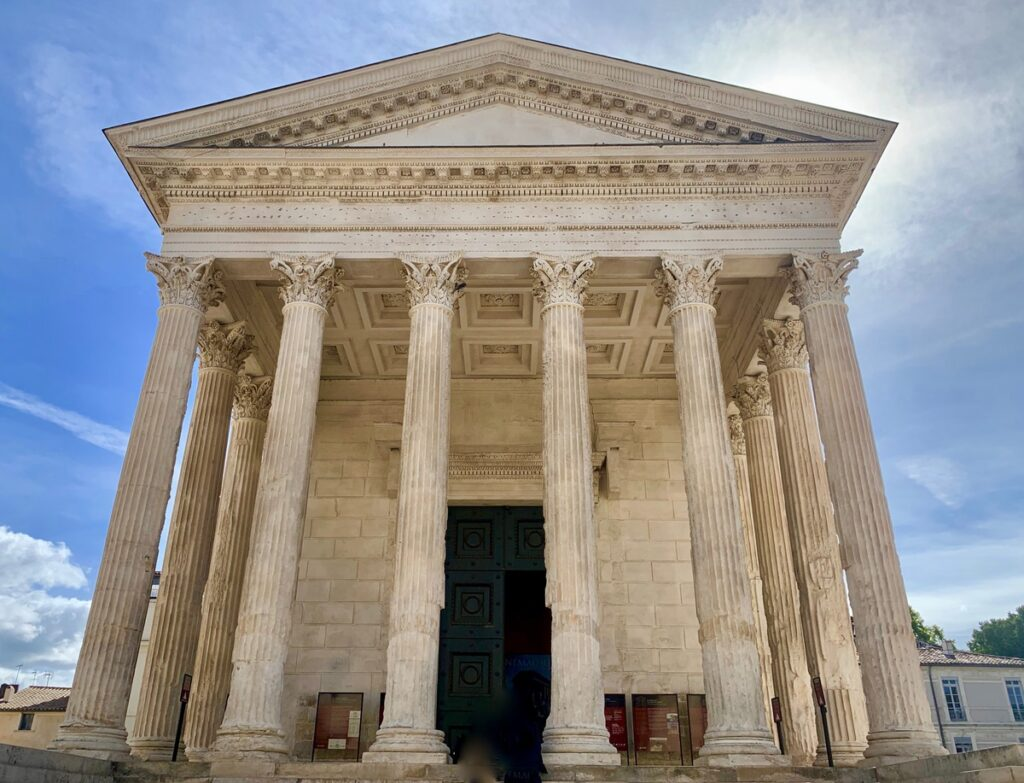 Maison Carree in Nimes, France.