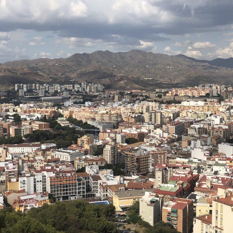 Malaga, Spain, from Castillo De Gibralfaro.