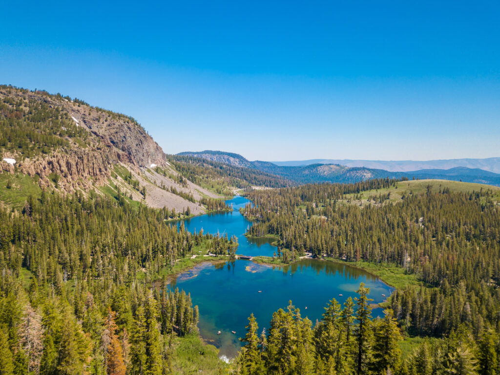 Mammoth Lakes in the Sierra Nevadas.