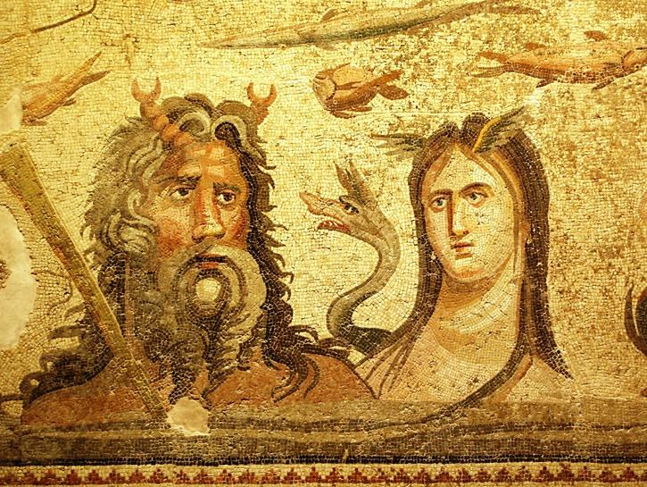 Man woman mosaic, Gaziantep.