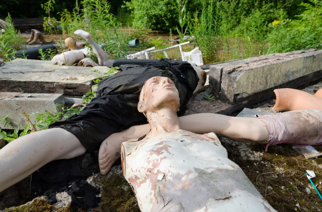 Mannequins at the abandoned theme park.