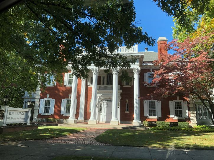 Mansion Row in Erie, Pennsylvania.