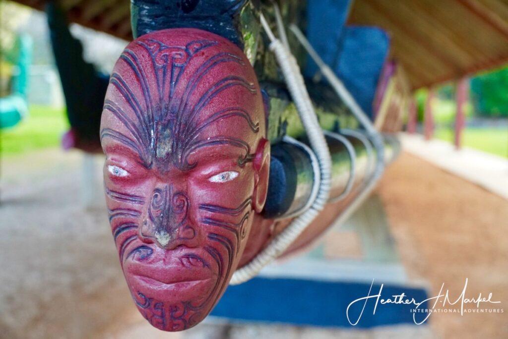 Maori art in New Zealand.