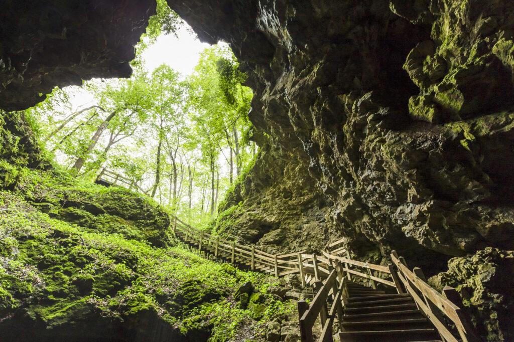 Maquoketa Caves State Park in Iowa.