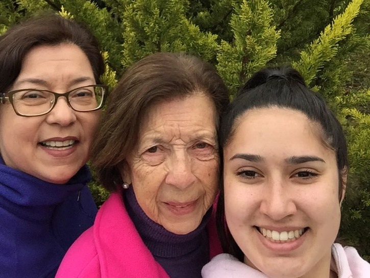Margarita Ibbott with her mother and daughter