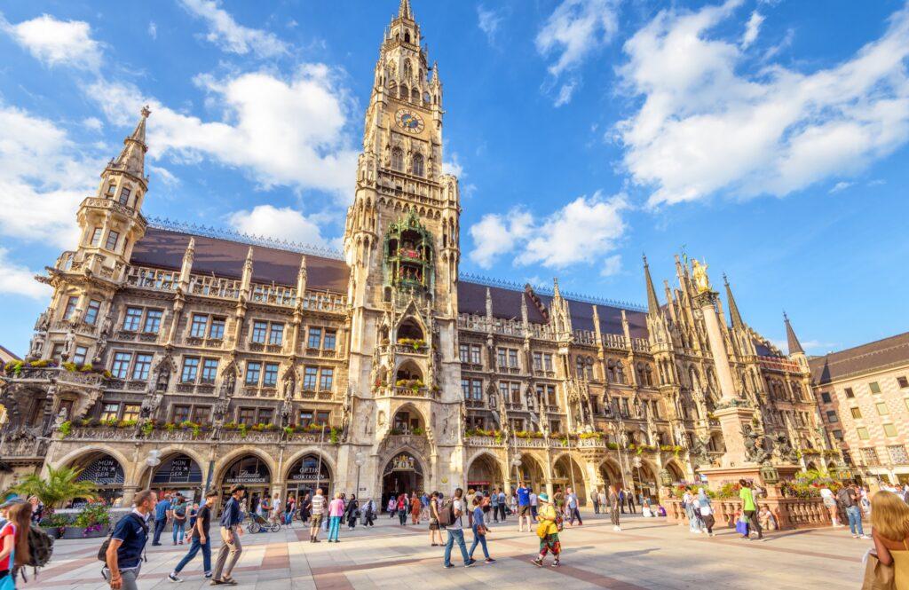 Marienplatz in Munich, Germany.