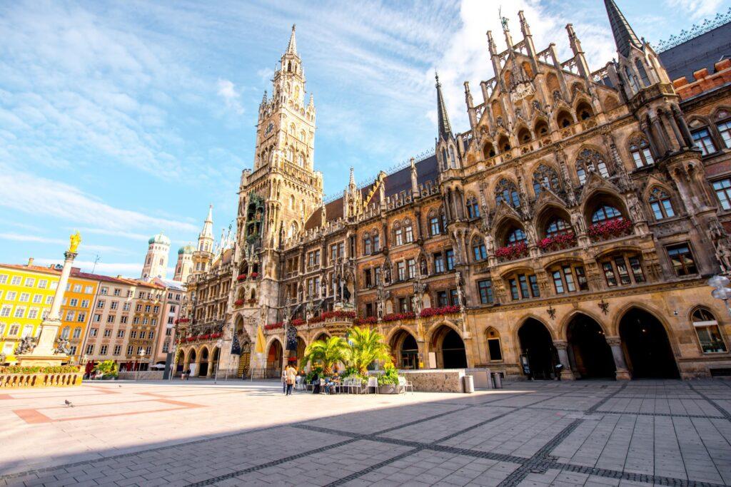 Marienplatz square in Munich.