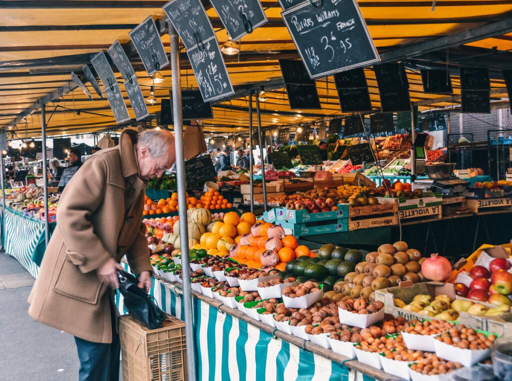 Market day in Versailles.