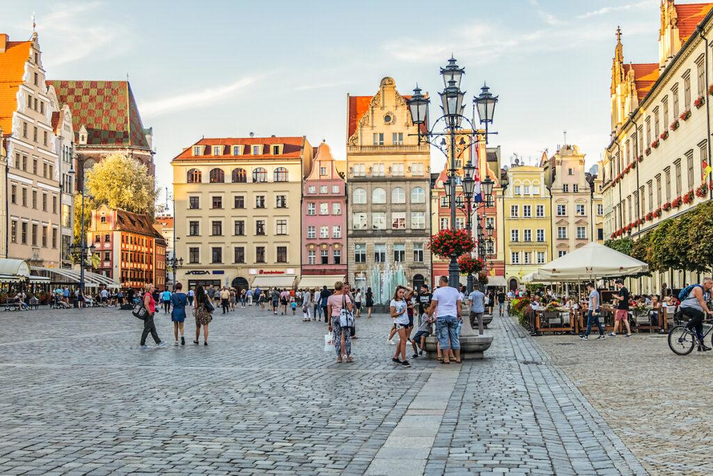 Market Square in Wroclaw, Poland.